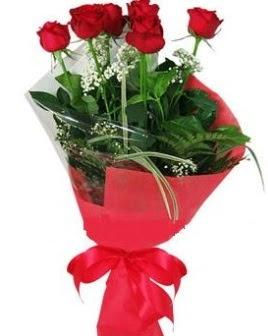 5 adet kırmızı gülden buket  Kırşehir çiçek servisi , çiçekçi adresleri