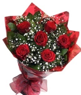 6 adet kırmızı gülden buket  Kırşehir kaliteli taze ve ucuz çiçekler