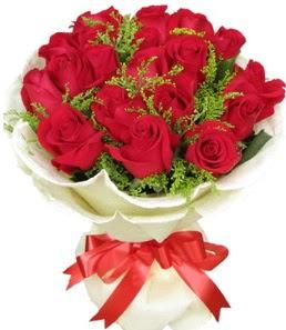 19 adet kırmızı gülden buket tanzimi  Kırşehir hediye sevgilime hediye çiçek