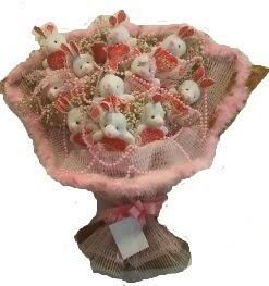 12 adet tavşan buketi  Kırşehir çiçek online çiçek siparişi