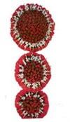 Kırşehir çiçek online çiçek siparişi  3 katli Beyaz glayöllerden sepet