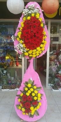 Çift katlı düğün nikah açılış çiçek modeli  Kırşehir çiçek siparişi sitesi
