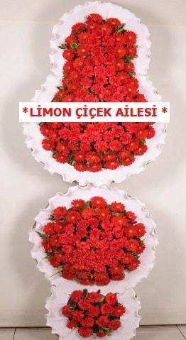3 katlı kırmızı düğün açılış çiçeği  Kırşehir çiçek gönderme sitemiz güvenlidir