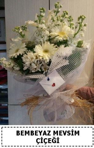 Bembeyaz görsel mevsim çiçek buketi  Kırşehir İnternetten çiçek siparişi
