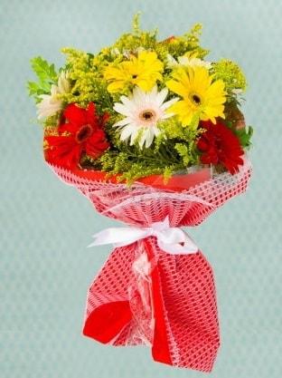 Karışık Gelbera Buketi  Kırşehir hediye çiçek yolla