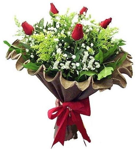 5 adet gülden buket  Kırşehir çiçek yolla , çiçek gönder , çiçekçi