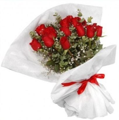 9 adet kırmızı gül buketi  Kırşehir ucuz çiçek gönder