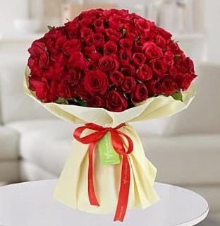 101 adet kırmızı gül buketi koca demet  Kırşehir internetten çiçek satışı