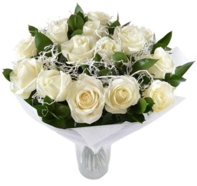 15 beyaz gül buketi sade aşk  Kırşehir çiçek gönderme
