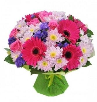 Karışık mevsim buketi mevsimsel buket  Kırşehir çiçek gönderme