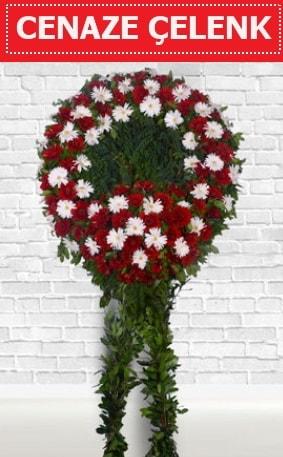 Kırmızı Beyaz Çelenk Cenaze çiçeği  Kırşehir online çiçekçi , çiçek siparişi