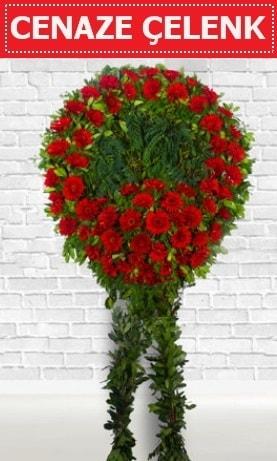 Kırmızı Çelenk Cenaze çiçeği  Kırşehir online çiçekçi , çiçek siparişi