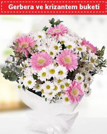 Papatya ve Gerbera Buketi  Kırşehir çiçekçi telefonları