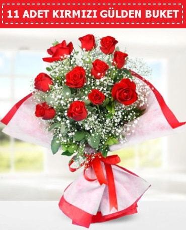 11 Adet Kırmızı Gül Buketi  Kırşehir internetten çiçek satışı