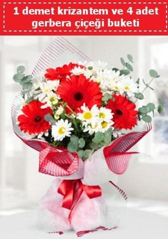 Krizantem ve Gerbera Buketi  Kırşehir hediye çiçek yolla