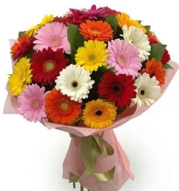 Karışık büyük boy gerbera çiçek buketi  Kırşehir çiçek gönderme