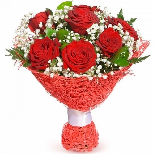 7 adet kırmızı gül buketi  Kırşehir çiçek siparişi sitesi