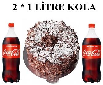 6 ile 9 kişilik Parça Çikolatalı 2 * 1 litre kola